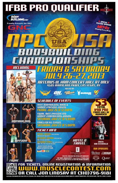 2014 usa npc championships: le foto del pregara.