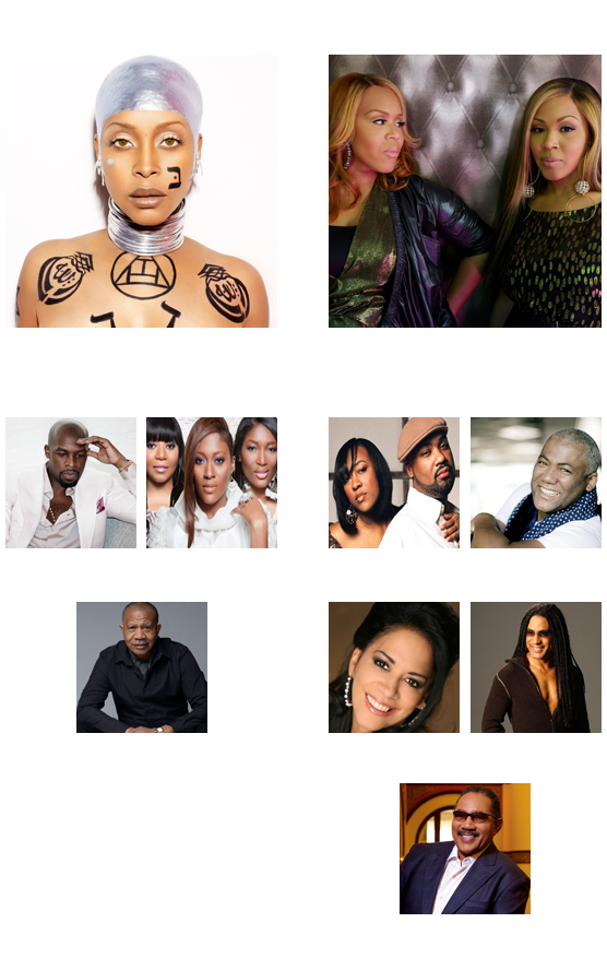 Saturday Lineup (4/6/13): Erykah Badu, Joe, SWV, Lenny Williams and more! Sunday Lineup (4/7/13): Mary Mary, Kindred The Family Soul, Marion Meadows, Dr. Bobby Jones, Jonathan Butler, Sheila E and more!