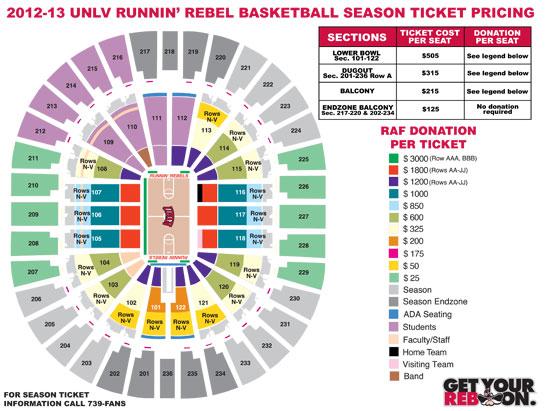 rebels seating chart: Rebels seating chart unlv rebels basketball seating chart